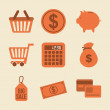 shopping icons — Stock Vector #33854491