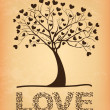 Tree love  — Vettoriali Stock