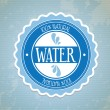 Natural water — Stock Vector