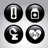 ícones médicos — Vetorial Stock