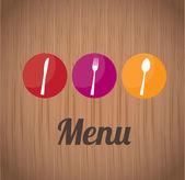 Restaurant label — Stock Vector