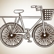 Bicycle design — Stockvektor