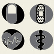 medical icons — Stock Vector