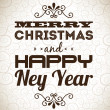 Merry christmas and happy new year  — Image vectorielle