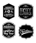 Feliz natal e feliz ano novo — Vetorial Stock