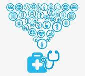 ícones saudáveis — Vetor de Stock