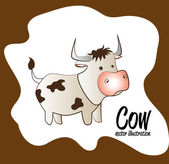 Cow background — Stock Vector