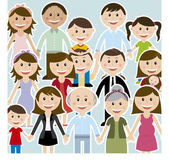 Diseño familiar — Vector de stock