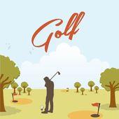 Golf design — Stock Vector