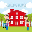 Welcome home — Stock Vector #34384289