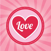 Liebe herzen — Stockvektor