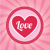 Láska srdce — Stock vektor