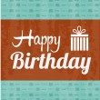 Happy birthday label — Stock Vector #34393105