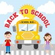Back to school bus — Stock Vector #34400829