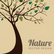 Tree natural — Stock Vector