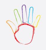 Hand design — Stock Vector