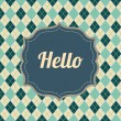 Hello label — Stock Vector