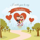 Wedding — Stock Vector