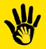Hands stop — Stock Vector