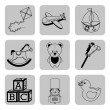 Stock Vector: Toys icons