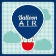 Balloon air  design — Stock Vector