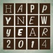 Happy new year 2014 — Stock vektor