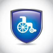 Wheelchair — Stock Vector
