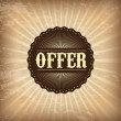 Offer design — Image vectorielle