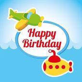 Happy birthday — Vetorial Stock