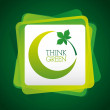Think green design — 图库矢量图片