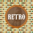 Vector de stock : Retro Label
