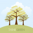 Think green design — Image vectorielle