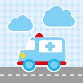 Ambulancia — Vector de stock