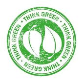 Grünes Design denken — Stockvektor