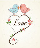 Love birds — Stock Vector