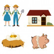Agriculture icons — Stock Vector