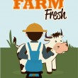 Farm fresh label  — Stock Vector