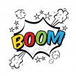 Boom pop art — Stock Vector