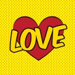 Love pop art — Vector de stock #35086461
