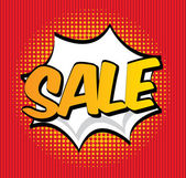 Sale pop art — Stock Vector