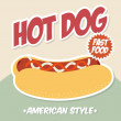 Hot dog — Vector de stock #35293815