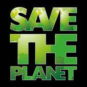 Den Planeten retten — Stockvektor