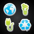Eco energy icons — Stock Vector