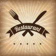 Restaurant  design  — Image vectorielle