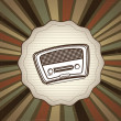 Vector de stock : Radio old