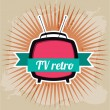 Tv retro — Stock Vector