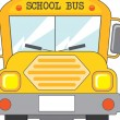 Stock Vector: School bus