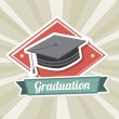 Graduation label — Stock Vector