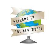 New world — Stock Vector
