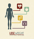 Lose weight — Stock Vector